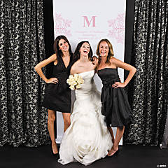 Personalized Light Pink Monogram Photo Booth Backdrop