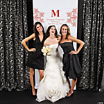 Personalized Red Monogram Photo Booth Backdrop