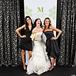 Personalized Lime Green Monogram Photo Booth Backdrop