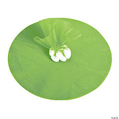 Lime Green Tulle Circles