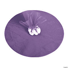 Purple Tulle Circles