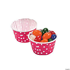 Hot Pink Polka Dot Snack Cups