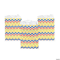 Chevron Pattern Bright Treat Bags