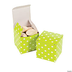 Lime Green Polka Dot Gift Boxes