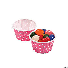 Candy Pink Polka Dot Snack Cups