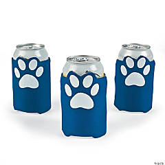 Blue Paw Print Can Covers