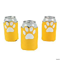 Yellow Paw Print Can Covers