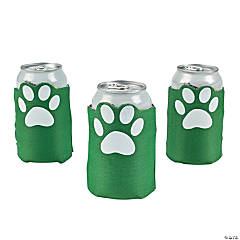 Green Paw Print Can Covers