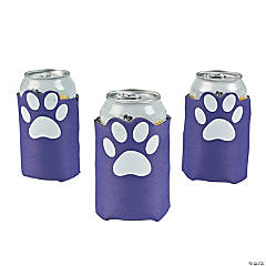 Purple Paw Print Can Covers