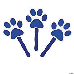 Blue Paw-Shaped Fans