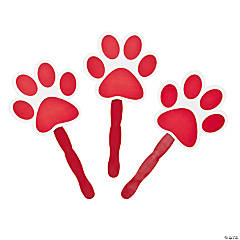 Red Paw-Shaped Fans