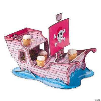 Pink Pirate Cupcake Holder
