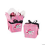 12 Pink Pirate Girl Takeout Boxes