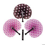 Pink Pirate Girl Folding Fans