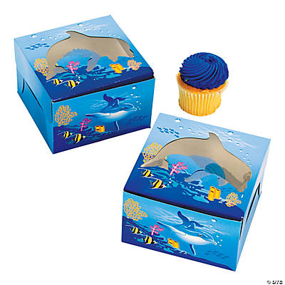 Dolphin Cupcake Boxes