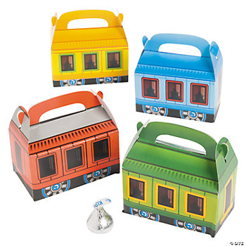 Mini Train-Shaped Treat Boxes