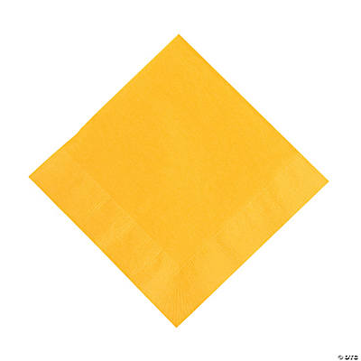 Schoolbus Yellow Lunch Napkins