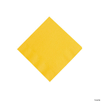 Schoolbus Yellow Beverage Napkins