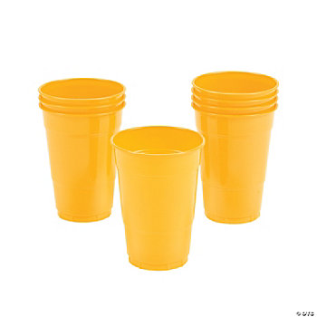 Schoolbus Yellow Cups