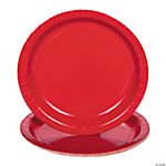 Classic Red Paper Dessert Plates