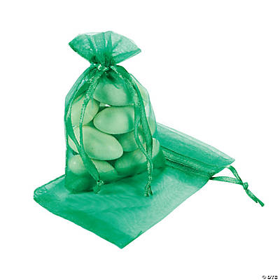 Emerald Mini Drawstring Bags