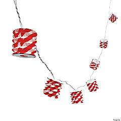 Red & White Paper Lantern Light String