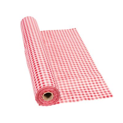 Quickview · Image Of Red Gingham Plastic Tablecloth Roll With Sku:3/7310