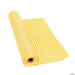 Yellow Gingham Tablecloth Roll