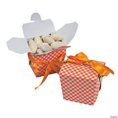Orange Gingham Takeout Boxes