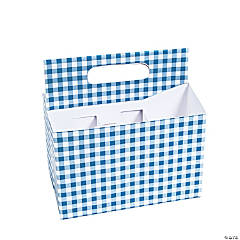 Blue Gingham Tableware Caddy