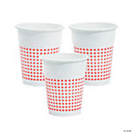 Red Gingham Disposable Cups