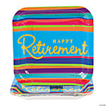 Happy Retirement Square Dessert Plates