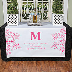 Personalized Hot Pink Monogram Table Runner