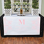 Personalized Pink Monogram Table Runner