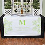 Personalized Lime Green Monogram Table Runner
