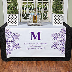 Personalized Purple Monogram Table Runner