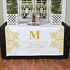 Personalized Gold Monogram Table Runner
