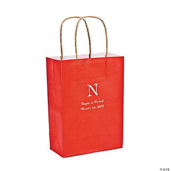 Personalized Monogram Red Craft Bags
