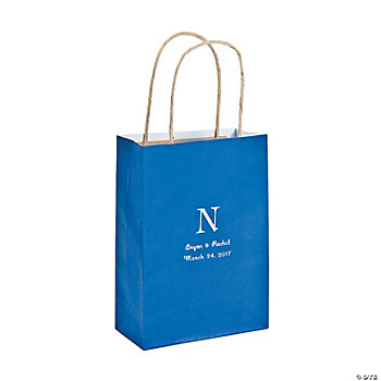 Personalized Monogram Blue Craft Bags