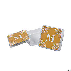 Personalized Gold Monogram Square Containers