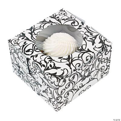 Black & White Cupcake Boxes