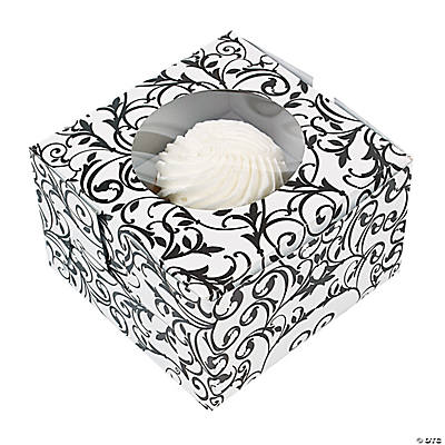 Black & White Cupcake Boxes