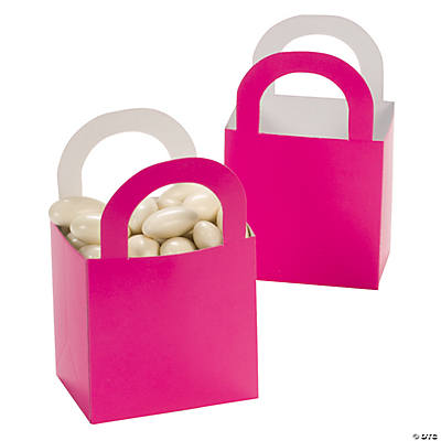 Hot Pink Favor Gift Baskets