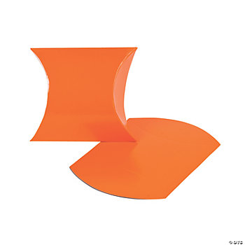 Orange Pillow Boxes