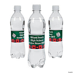 Personalized Casino Water Bottle Labels