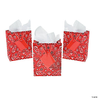 Small Red Bandana Gift Bags
