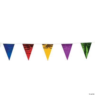 Bright Metallic Pennant Banner