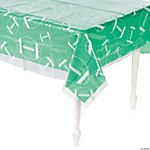 Clear Football Print Table Cover