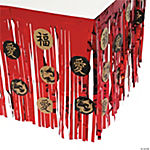 Asian Table Skirt With Cutouts