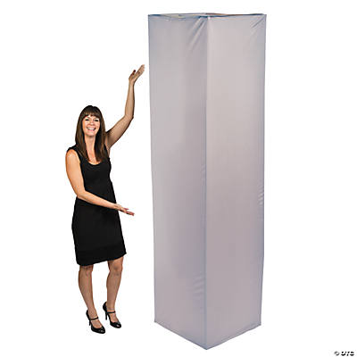 Fabric Square Column Slip Cover - Silver